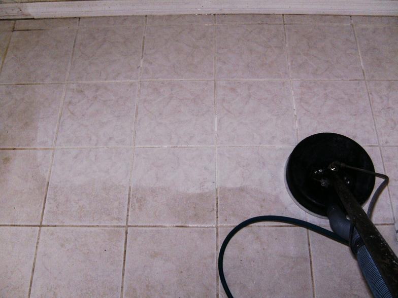 Ceramic tile floor cleaning