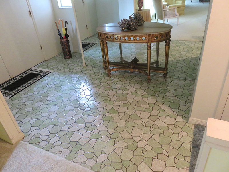 Clean tile after a professional cleaning