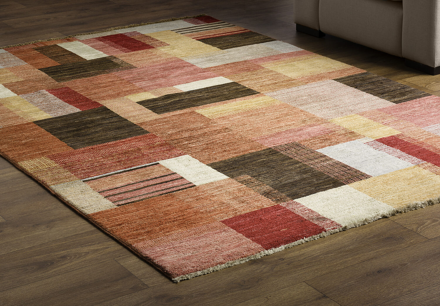 Area rug on floor